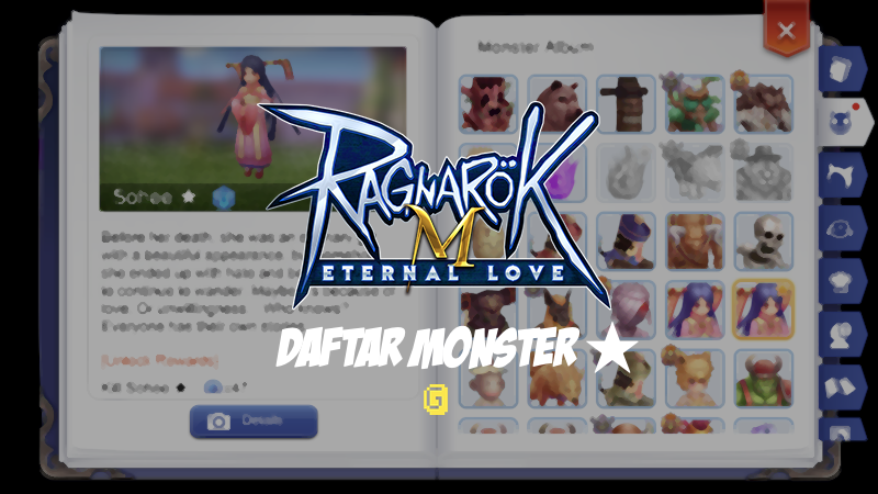 Ragnarok M Eternal Love - Daftar Monster Bintang/Star by Gimbot